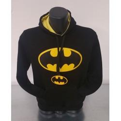Felpa Nera Uomo Batman