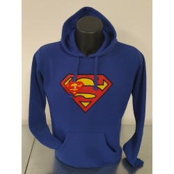 Felpa Blu Uomo Superman