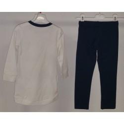 Vestito Masha e Orso Bianco e Blu con Leggings Blu