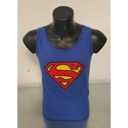 Canotta Blu Uomo Superman