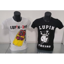 T-shirt Uomo Lupin in scooter Nera o Grigia o Bianca