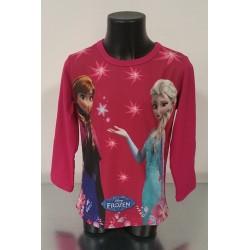 Maglietta a manica lunga di Frozen Fucsia o Blu o Panna