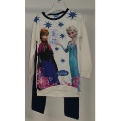 Vestito Frozen Bianco con Leggings Blu